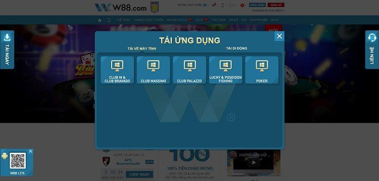 cách download w88 slot